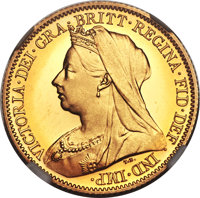 Heritage Select. 194. Great Britain: Victoria gold Proof 1/2 Sovereign 1893 PR67 Cameo NGC, KM784, S-3878. A radia(PCGS#...