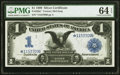 Fr. 229a* $1 1899 Silver Certificate PMG Choice Uncirculated 64 EPQ