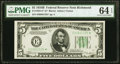 Small Size:Federal Reserve Notes, Fr. 1958-E* $5 1934B Federal Reserve Note. PMG Choice Uncirculated 64 EPQ.. ...