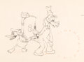 Animation Art:Production Drawing, Mickey's Service Station Donald Duck and Goofy Animation Drawing (Walt Disney, 1935).. ...