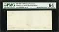 First Print (Back) Missing Error Fr. 2073-L $20 1981 Federal Reserve Note. PMG Choice Uncirculated 64
