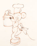 Animation Art:Production Drawing, Mickey's Trailer Mickey Mouse Animation Drawing (Walt Disney, 1938). ...