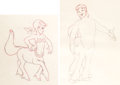 Animation Art:Production Drawing, Fantasia Melinda and Brutus Animation Drawings Group of 2 (Walt Disney, 1940). ... (Total: 2 Or...