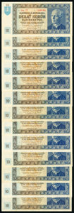 World Currency, Slovakia Group of 31 Examples Very Fine-Crisp Uncirculated.. ... (Total: 31 notes)