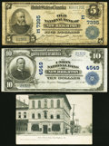 National Bank Notes:Pennsylvania, New Brighton, PA - $10 1902 Plain Back Fr. 627 The Union National Bank Ch. # 4549 VF;. New Brighton, PA - $5 190... (Total: 3 items)