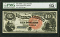 Large Size:Legal Tender Notes, Fr. 107 $10 1880 Legal Tender PMG Gem Uncirculated 65 EPQ.. ...