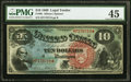 Fr. 96 $10 1869 Legal Tender PMG Choice Extremely Fine 45