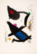 Prints & Multiples, Joan Miró (1893-1983). Le roi david, 1972. Etching and aquatint in colors on wove paper. 35-7/8 x 24-3/4 inches (91.1 x ...