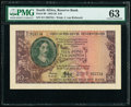 World Currency, South Africa South African Reserve Bank 10 Pounds 18.12.1952 Pick 99 PMG Choice Uncirculated 63.. ...