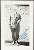 Autographs:Photos, Amos Alonzo Stagg Signed Picture. Offered is a 5x...