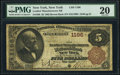 New York, NY - $5 1882 Brown Back Fr. 468 The Leather Manufacturers National Bank Ch. # 1196 PMG Very F