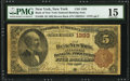 New York, NY - $5 1882 Brown Back Fr. 469 The Bank of New York National Banking Assoc Ch. # 1393 PMG Ch