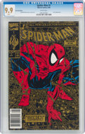 Modern Age (1980-Present):Superhero, Spider-Man #1 Gold Edition with UPC Code (Marvel, 1990) CGC MT 9.9 White pages....