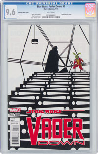 Star Wars: Vader Down #1 Zdarsky Sketch Cover (Marvel, 2016) CGC NM+ 9.6 White pages