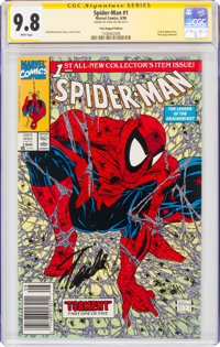 Spider-Man #1 Poly-Bagged Edition - Signature Series: Stan Lee (Marvel, 1990) CGC NM/MT 9.8 White pages