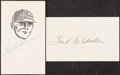 Autographs:Index Cards, Fred Clarke Signed Items Lot of 3. Offered are thr...