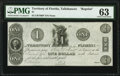 Obsoletes By State:Florida, Tallahassee, FL- Territory of Florida $1 18__ Cr. T8RP Reprint PMG Choice Uncirculated 63.. ...