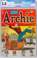 Golden Age (1938-1955):Humor, Archie Comics #1 (Archie, 1942) CGC GD/VG 3.0 Off-white to white pages....