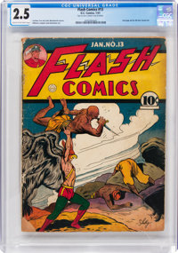 Flash Comics #13 (DC, 1941) CGC GD+ 2.5 Cream to off-white pages