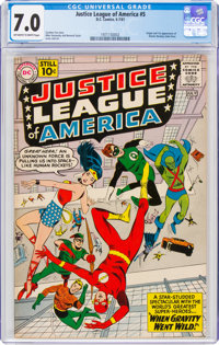 Justice League of America #5 (DC, 1961) CGC FN/VF 7.0 Off-white to white pages