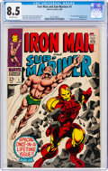 Silver Age (1956-1969):Superhero, Iron Man and Sub-Mariner #1 (Marvel, 1968) CGC VF+ 8.5 Off-white pages....