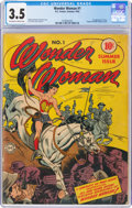Golden Age (1938-1955):Superhero, Wonder Woman #1 (DC, 1942) CGC VG- 3.5 Off-white to white pages....