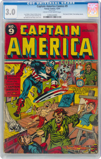 Captain America Comics #9 (Timely, 1941) CGC GD/VG 3.0 Cream to off-white pages