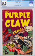 Golden Age (1938-1955):Horror, Purple Claw #1 (Minoan Publishing Co., 1953) CGC FN- 5.5 Off-white to white pages....