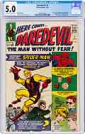 Silver Age (1956-1969):Superhero, Daredevil #1 (Marvel, 1964) CGC VG/FN 5.0 Off-white to white pages....