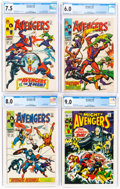 Silver Age (1956-1969):Superhero, The Avengers CGC-Graded Group of 9 (Marvel, 1968-72).... (Total: 9 )