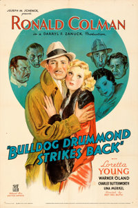 "Bulldog Drummond Strikes Back (United Artists, 1934). Folded, Very Fine-. One Sheet (27"" X 41""). From the Mike..."