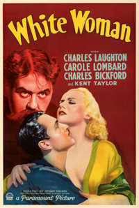 """White Woman (Paramount, 1933). Very Fine- on Linen. Full-Bleed One Sheet (26.5"""" X 39.75"""") Style A. From the Mi..."""