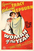 """Movie Posters:Comedy, Woman of the Year (MGM, 1942). Fine/Very Fine on Linen. One Sheet (27.25"""" X 41"""") Style D. From the Mike Kaplan Collection...."""