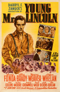 "Movie Posters:Drama, Young Mr. Lincoln (20th Century Fox, 1939). Folded, Very Fine-. One Sheet (27"" X 41"") Style A. From the Mike Kaplan Collec..."