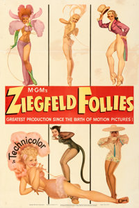 "Ziegfeld Follies (MGM, 1945). Fine+ on Linen. One Sheet (27"" X 41"") Style D. George Petty Artwork. From the Mi..."