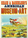 Movie Posters:Miscellaneous, Chase and Bachelder's American Museum of Art (c. 1880). Fi...