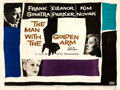 "Movie Posters:Drama, The Man with the Golden Arm (United Artists, 1955). Fine/Very Fine on Linen. British Quad (30"" X 40""). Saul Bass Artw..."