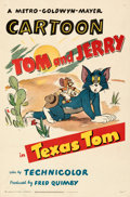 """Movie Posters:Animation, Tom and Jerry in Texas Tom (MGM, 1950). Fine/Very Fine on Linen. One Sheet (27"""" X 41"""").. ..."""