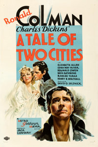 """A Tale of Two Cities (MGM, 1935). Fine/Very Fine on Linen. One Sheet (27.5"""" X 41"""") Style C. From the Mike Kapl..."""