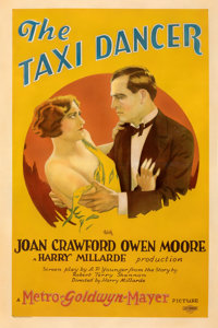 "The Taxi Dancer (MGM, 1927). Good- on Linen. One Sheet (27"" X 40.5""). From the Mike Kaplan Collection"