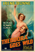 "Movie Posters:Comedy, Theodora Goes Wild (Columbia, 1936). Fine/Very Fine on Linen. One Sheet (27.5"" X 41"") Style B. From the Mike Kaplan Collec..."