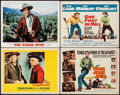 "Movie Posters:Western, The Magnificent Seven & Other Lot (United Artists, 1960). Fine/Very Fine. Lobby Cards (2) & Title Lobby Cards (2) (11"" X 14""... (Total: 4 Items)"