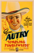 "Movie Posters:Western, Tumbling Tumbleweeds (Republic, 1935). Fine+ on Linen. One Sheet (27"" X 41""). From the Mike Kaplan Collection.. ..."