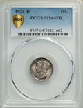 1926-D 10C MS64 Full Bands PCGS. PCGS Population: (194/121 and 1/9+). NGC Census: (90/48 and 1/1+). CDN: $650 Whsle. Bid...