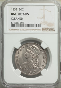 1833 50C -- Cleaned -- NGC Details. Unc. Mintage 5,206,000. ...(PCGS# 6163)