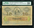 World Currency, Cuba El Banco Espanol de la Habana 10 Pesos 1872-92 Pick 20 PMG Very Fine 20.. ...