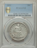 Seated Half Dollars: , 1852 50C Fine 15 PCGS. PCGS Population: (1/120 and 0/0+). NGC Census: (0/75 and 0/1+). CDN: $650 Whsle. Bid for NGC/PCGS Fi...