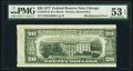 Misaligned Back Printing Error Fr. 2072-G $20 1977 Federal Reserve Note. PMG About Uncirculated 53 EPQ