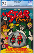All Star Comics #8 (DC, 1942) CGC VG- 3.5 Cream to off-white pages