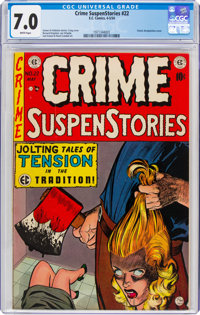 Crime SuspenStories #22 (EC, 1954) CGC FN/VF 7.0 White pages